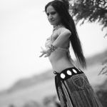 Bellydance Shaheen black and white
